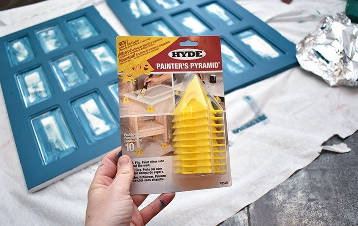 Painter's Pyramids keep your furniture away from the work surface.