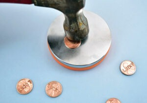 What do you do if your stamped penny is bowed and doesn't lay flat?