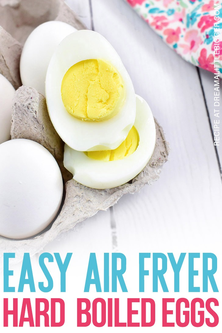 These air fryer hard boiled eggs are so quick and easy to make that it will be your go to recipe! These eggs are perfectly cooked with a soft, buttery yolk.