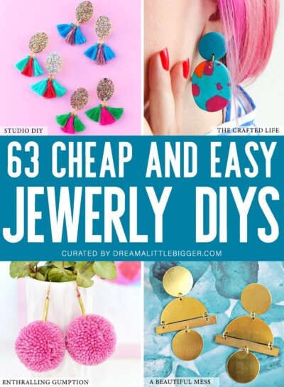 Having some unique pieces in your jewelry box doesn't have to break the bank or take immense skill. Check out over 60 of our favorite cheap and easy DIY jewelry tutorials.