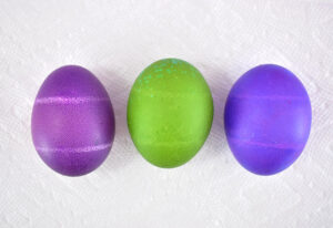 Why do my dyed Easter eggs have white lines on them?