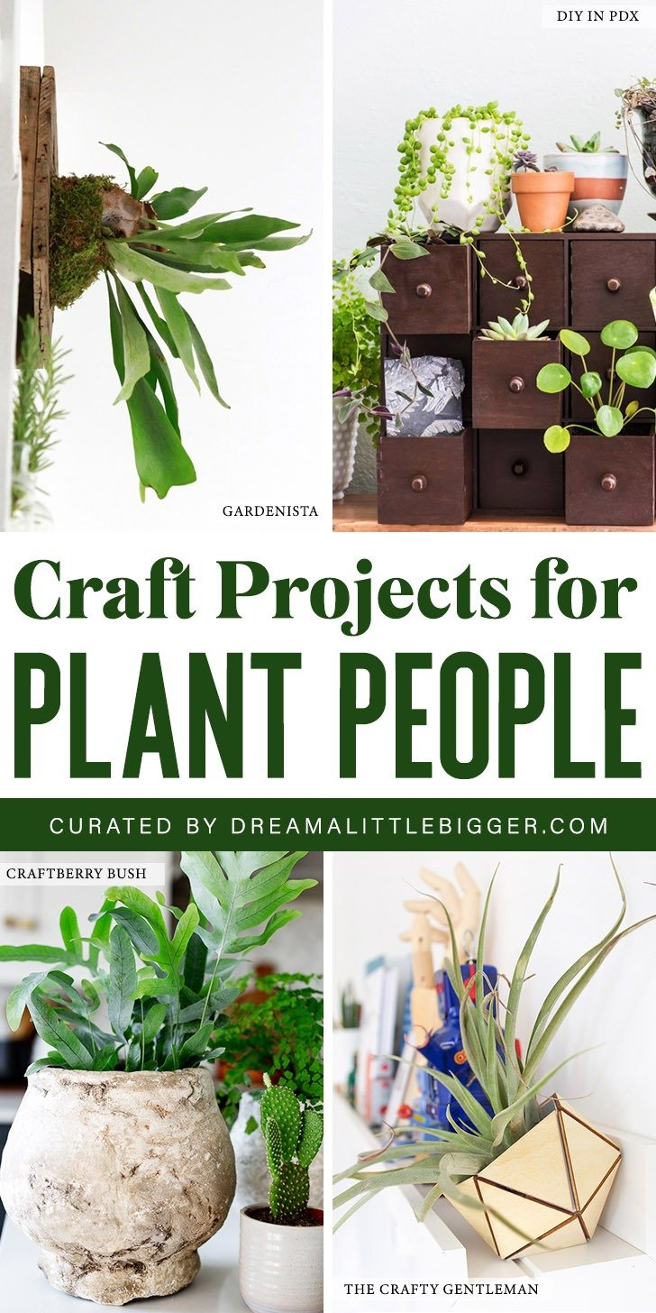 Do you have a love for indoor gardening? Check out these amazing crafts for plant people that will green up your living spaces!
