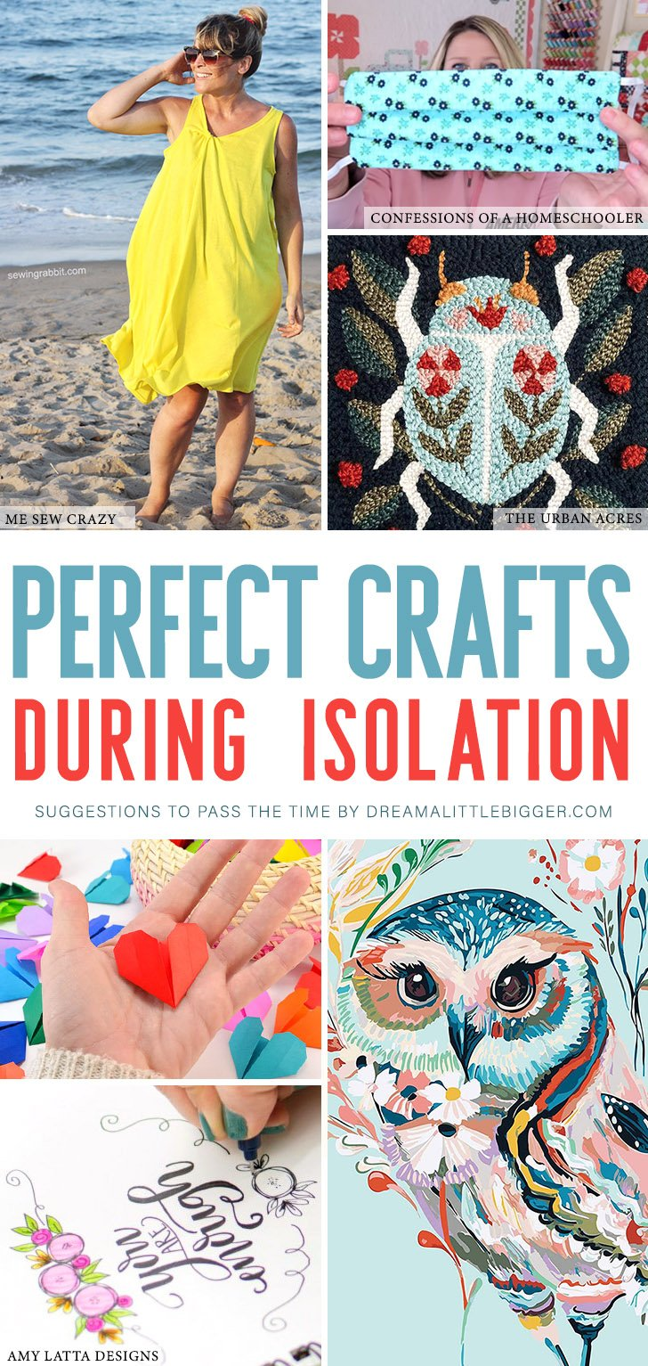 Looking to pass the time? Take up a new hobby! These perfect crafts during isolation are great for beginners with materials that are easy to find!