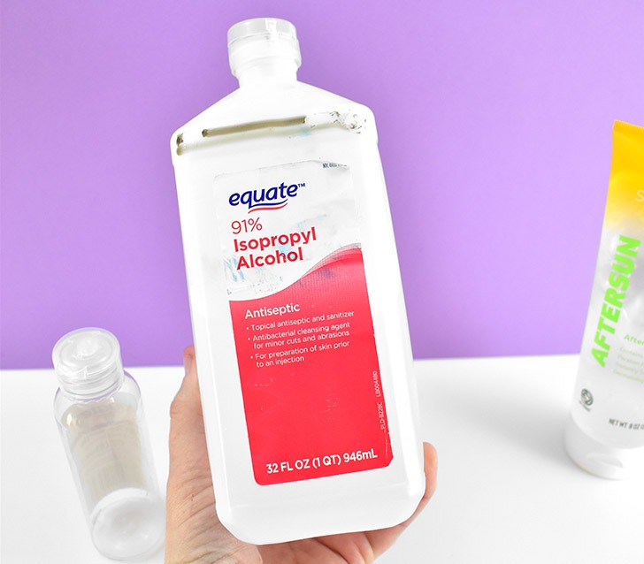 Isopropyl Alcohol, or rubbing alcohol, comes in many strengths. To achieve a hand sanitizer that is AT LEAST 60% alcohol you have to start with alcohol that is AT LEAST 70%.