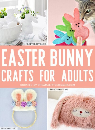 Check out the best Easter crafts for adults. There isn't a Popsicle stick or pipe cleaner in sight, just adorable DIYs you're sure to love!