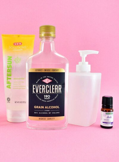 Can't find hand sanitizer? Head to the liquor store because we're making everclear hand sanitizer that's approximately 63% alcohol.