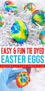 A special super saturated DIY egg dye using food colors is the key to these gorgeous DIY tie dye Easter eggs. They're so much fun to make and no 2 are alike!
