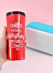 Adorable travel mug done!