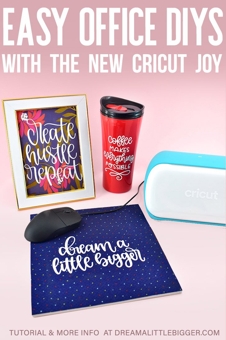Looking for some fun Office Crafts? Inspirational Art peps up your desk, a custom mouse pad keeps things moving and an adorable travel mug gets you there!