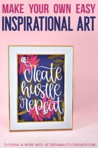 Make DIY Inspirational Art to keep you motivated during your work day!