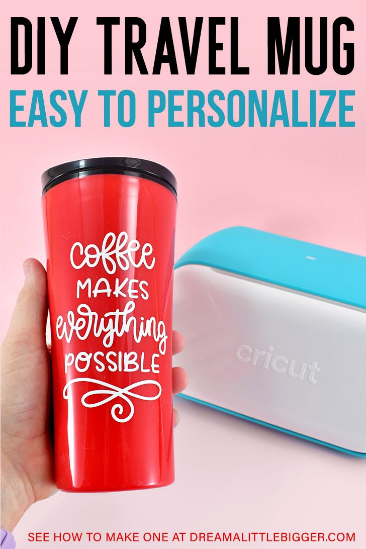 No matter how far your commute, a travel mug is one of the most versatile and useful office crafts!