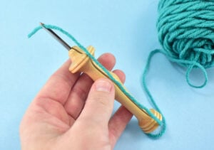 At this point your threaded punch needle should look like this.