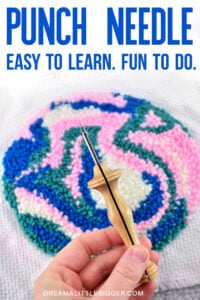 Want to learn how to punch needle? Learn about the supplies needed and see how to use a punch needle tool. If you can use a pencil, you can punch needle!