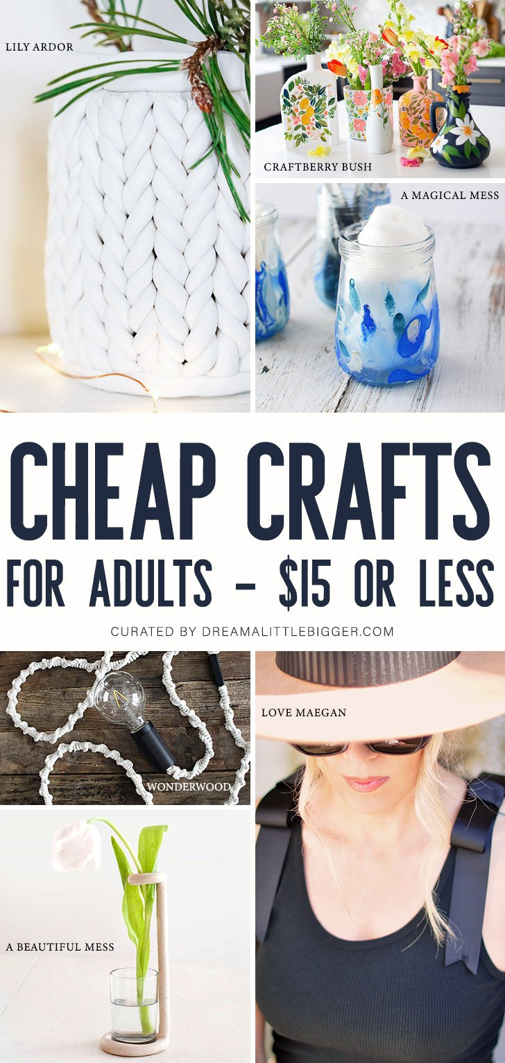 If you are looking to keep busy but don't want to break the bank, check out these cheap crafts for adults that cost less than $15 to make!