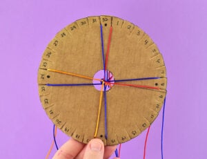 Check out 3 different ways to make your own DIY Kumihimo Disk out of foam, cardboard, or chipboard. Braiding friendship bracelets has never been so easy!