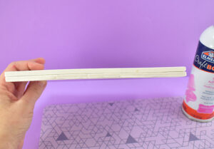 Using spray adhesive glue the two sizes to form one 12mm thick piece of foam. Allow the glue plenty of time to dry.