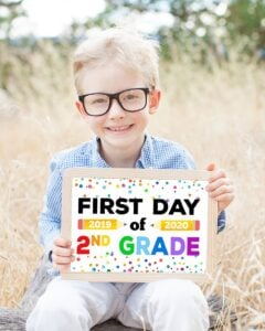 First Day of Back to School Sign Free Printable Craft from Happiness is Homemade
