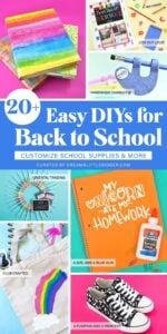 These fun kid crafts and back to school crafts are the perfect kid projects to get ready for the new school year!DIY in style for back to school cool!