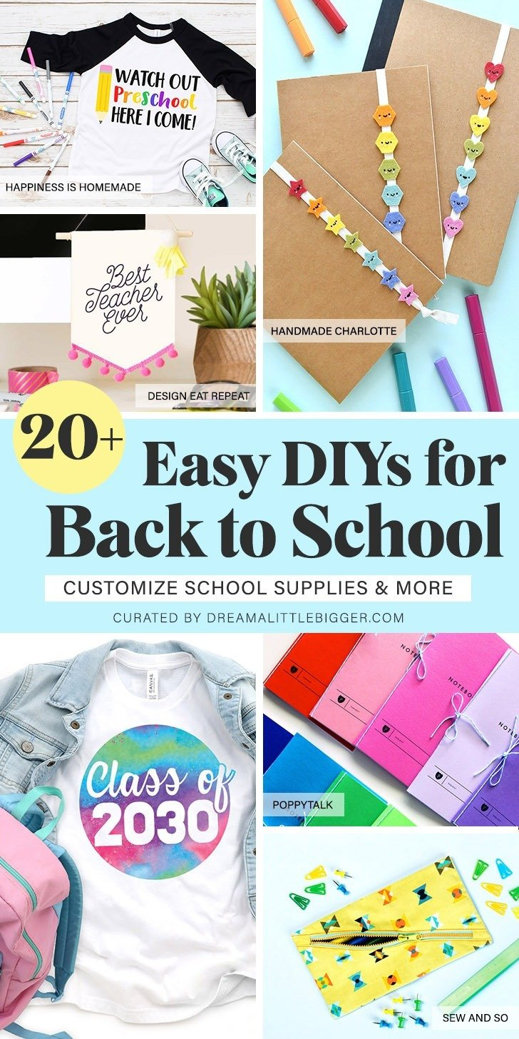 These fun kid crafts and back to school crafts are the perfect kid projects to get ready for the new school year! DIY in style for back to school cool!