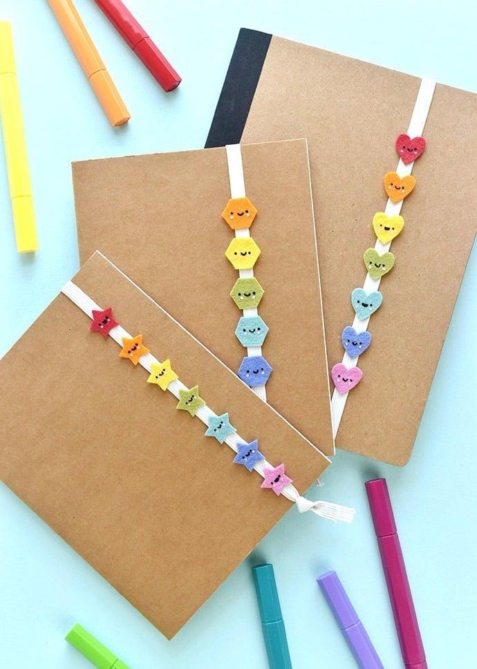 Make these adorably Kawaii elastic book bands with Handmade Charlotte.