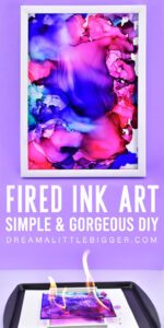 You don't have to be an artist to make this stunningly gorgeous DIY fired ink art! Learn how to make these colorful and totally unique DIY paintings!