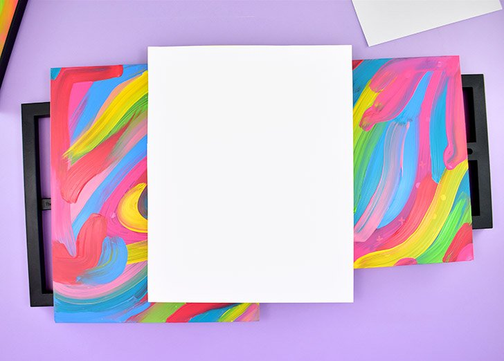 Place the glass unpainted side down on a piece of white cardstock and trace around it and cut it out.