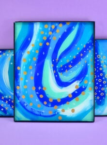 If you can draw dots and dashes and can hold a paintbrush you're well on your way to making brushstrokes on glass with this simple abstract art tutorial!