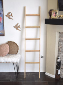 Your DIY blanket ladder is complete!