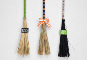 Embellish your brooms any way you'd like.