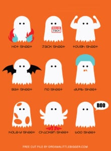 Grab this free Halloween SVG File of our super fun Ghost Index! Hot Sheet, Bat Sheet, Jack Sheet, Boo Sheet and MORE!!! Such fun!