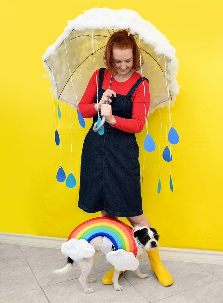 Make this adorable DIY cloud costume using an umbrella!