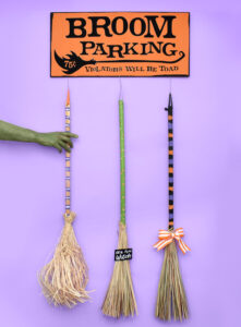 Broom Parking Decorative Halloween Sign Tutorial by Dream a Little Bigger