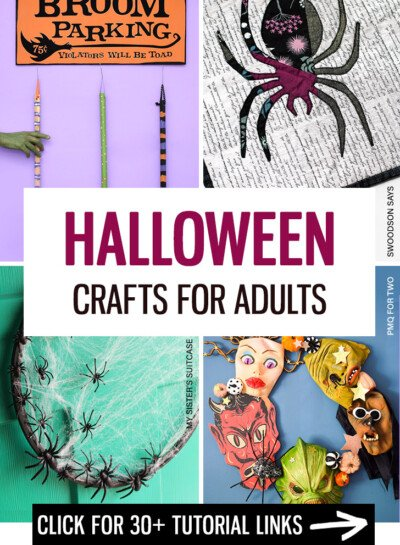Looking for adult-friendly Halloween crafts? Look no further! We've got a wide variety of over 30 links for DIYs you'll want to try!