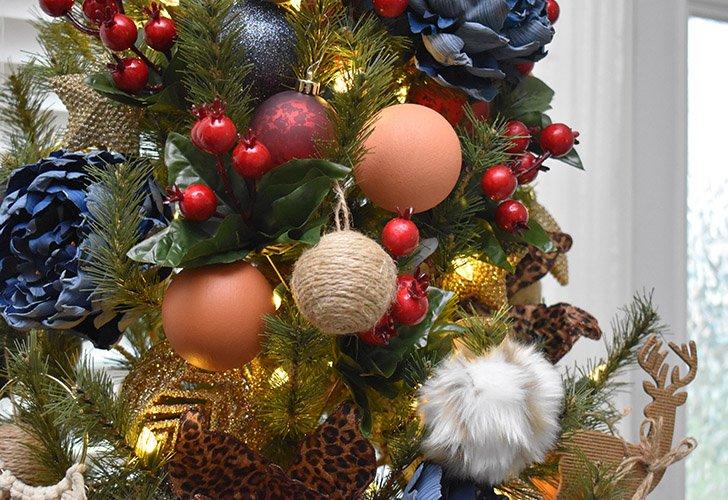 Make these faux terra cotta ornaments and faux fur ornaments yourself. They're incredibly easy DIY!