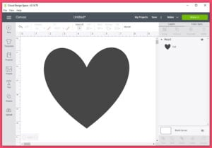 Have the shape you'd like to fill to print in a new Cricut Design Space file.