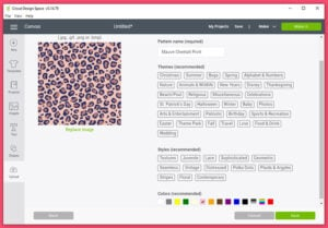 """Name your pattern and select the colors in the file. Click """"Save""""."""