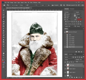 Coloring black and white photos you find at the Library of Congress is easy in Photoshop.