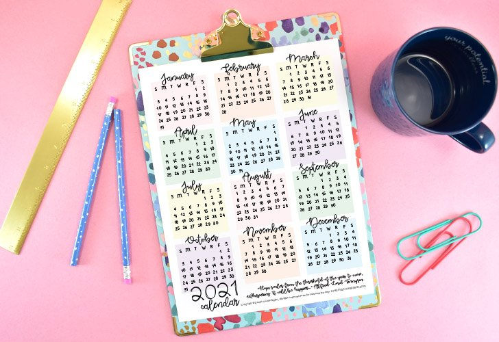 So long 2020, hello 2021!!! Ready for the new year? Check out our free 2021 calendars that will help you stay organized and on track!