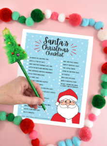 Looking for a fun way to count down all of the Christmas activities you've completed? Download this free Santa's Checklist!