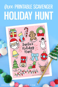 Who doesn't love a scavenger hunt? Download Santa's Holiday Hunt, an inexpensive Christmas activity you can complete in your neighborhood!