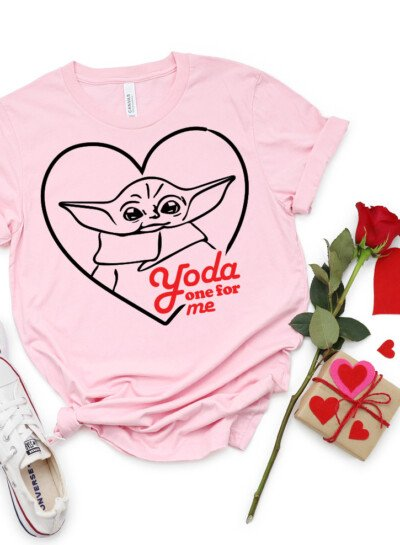 "Declare your love for your favorite Valentine with this Baby ""Yoda One for Me"" free cut file. Perfect for any Star Wars or Mandalorian fan!"
