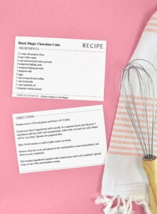 When you're ready to print, follow the same steps as above for recipe cards where the fronts and backs match up well.