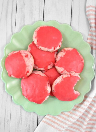 Gorgeously pink, sweet, and totally unique, these maraschino cherry cookies are always the first to disappear. Get the recipe to bake up a batch!