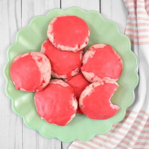 Gorgeously pink, sweet, and totally unique, these maraschino cherry cookies are always the first to disappear. Get the recipe to bake up a batch of our maraschino cherry cookies!