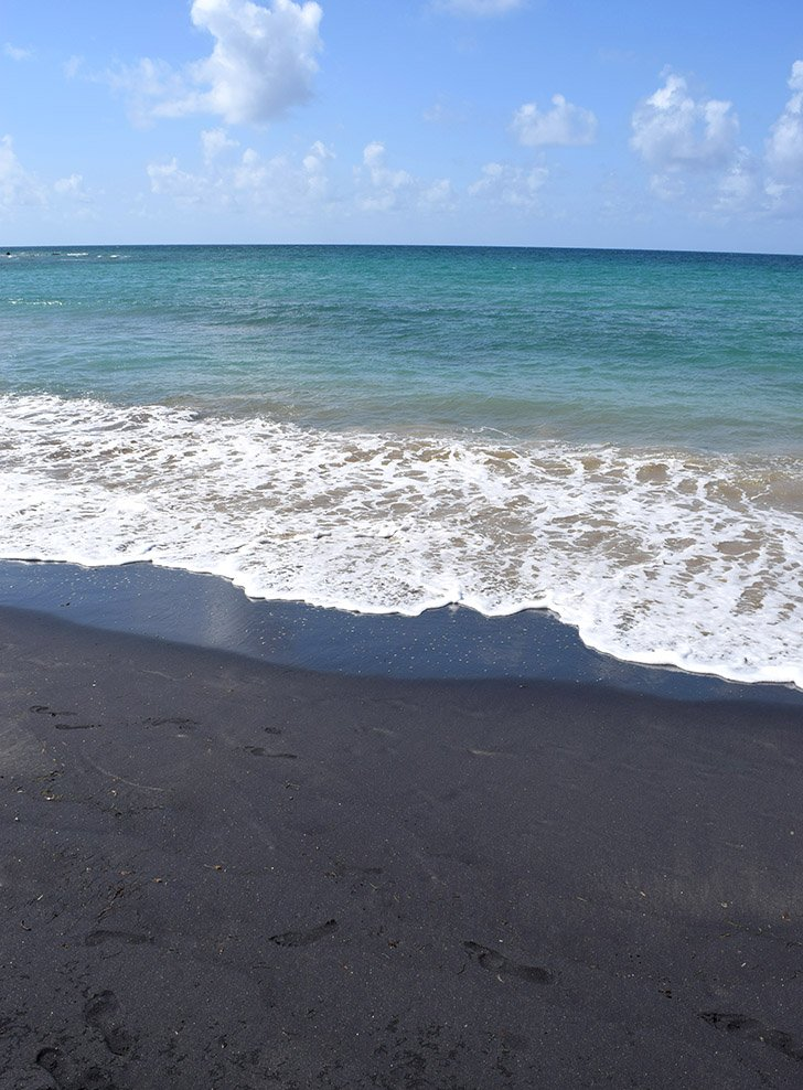 The black sand beach, Playa Negra on Vieques in Puerto Rico is one of my favorite places in whole world!