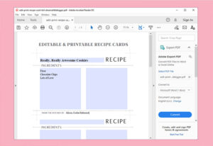 Entering your recipe on the computer is super easy.