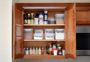 Get your pantry spices and dry goods neat as a pin and easy to access with this spice organization hack using vinyl.