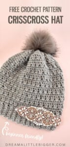 One simple stitch is easily modified striking pattern. Learn how to make your own crisscross double crochet hat (beginner friendly crochet).