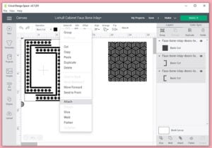"""Move the outer frame pieces so that they nest inside of one another with the two together not extending beyond 11.5"""" (the maximum cut width on the mat with the Cricut Maker)."""