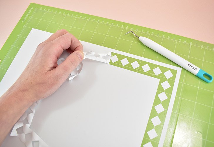 Apply your Iron-On shiny carrier sheet side down onto a StandardGrip mat of the appropriate size (most cuts will require a longer mat but some you can use the standard size mat for). Load the material and mat into your machine and run the cut.